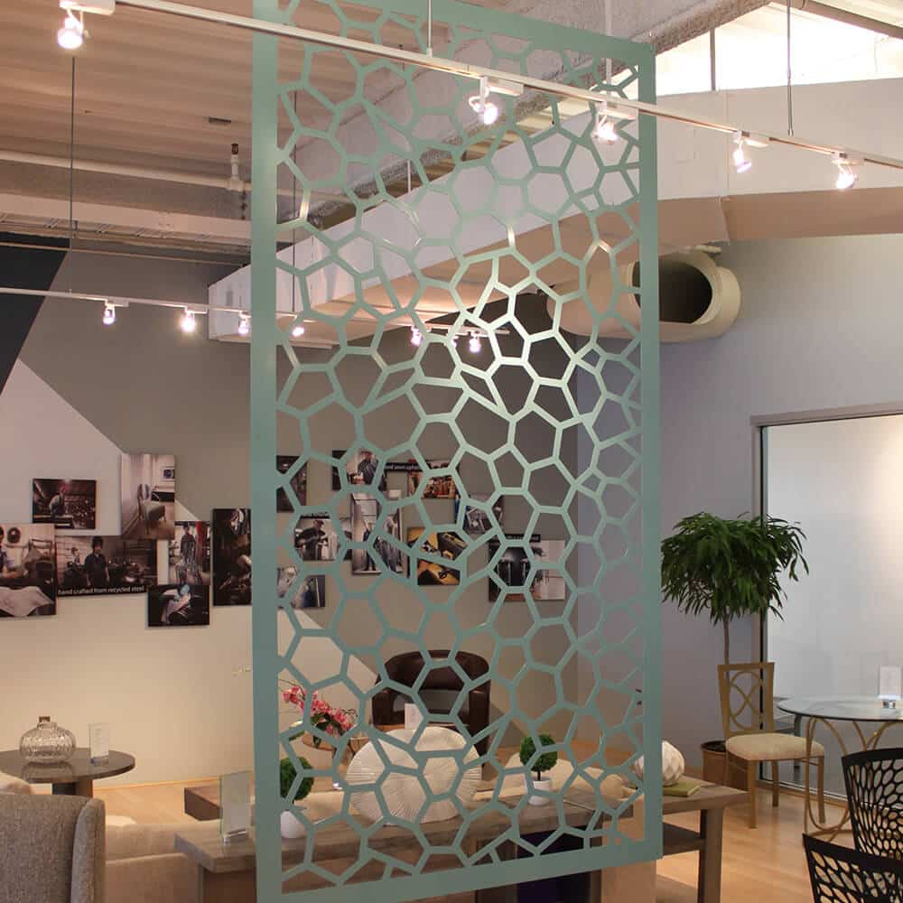 Honeycomb shaped space divider