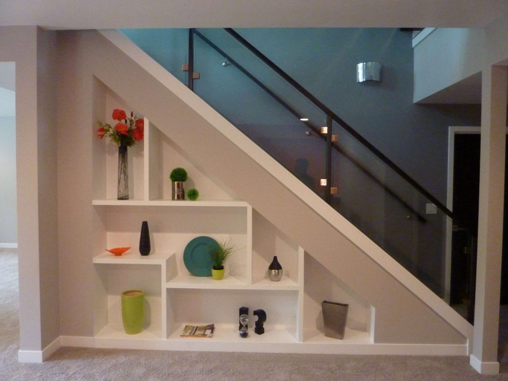 staircase shelving ideas