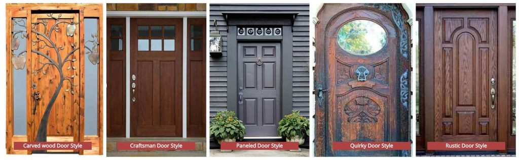 Different  Door Style By Designs- Carved, Craftsman, Paneled, Quirky, Rustic  designs doors