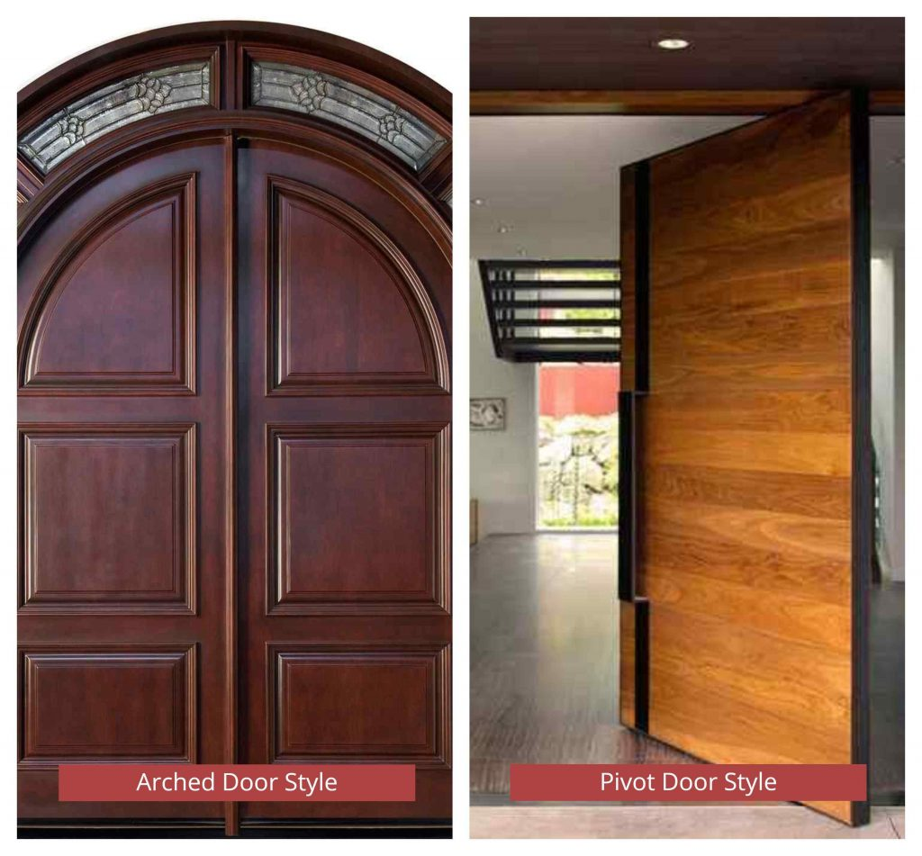 Different Door Style by Shape - Arched, pivot door styles