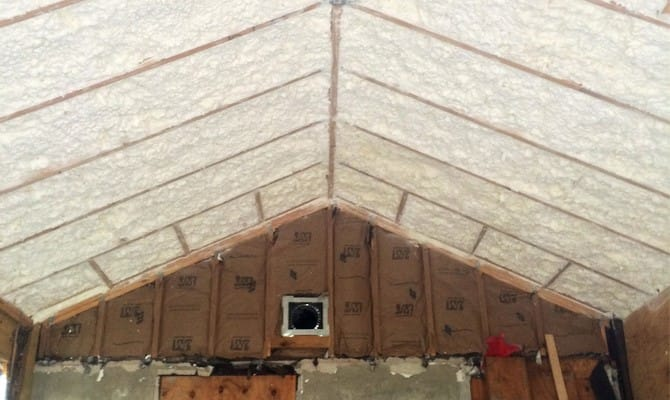 paper insulated roof